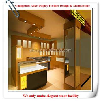 Glass Jewelry Display Showcase With Led Light