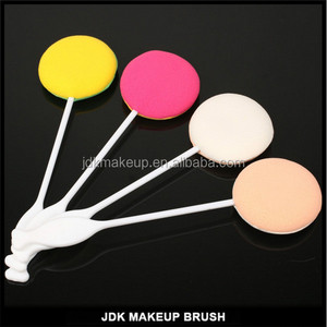 Lovely lollypop powder puff for fixing makeup, lollipop puff with stick