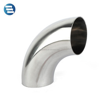 DIN 3A SMS ISO Sanitary Stainless Steel 45 90 180 Degree Butt Weld Elbow