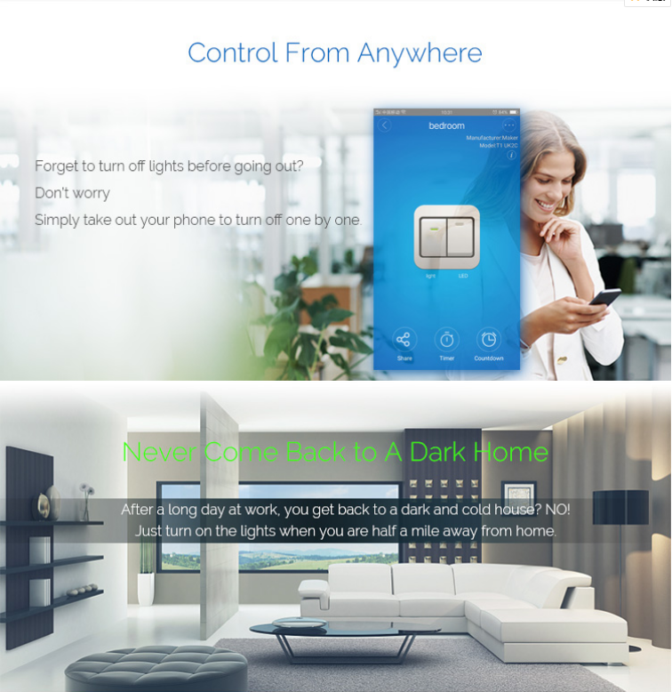 Eu Standard Free Ios/android Mobile App Ewelink Wifi Remote Switch - Buy  Wifi Remote Switch,Ios/android Wifi Remote Switch,Eu Standard Wifi Remote
