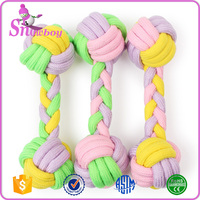 Dog Pet Chew Rope Bone Shape Candy-colored Cotton Rope Toys