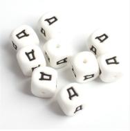 BPA бесплатно Английский Буква русского алфавита силиконовые бусины для ребенка