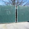 100 ft brown vinyl coated chain link mesh fence post