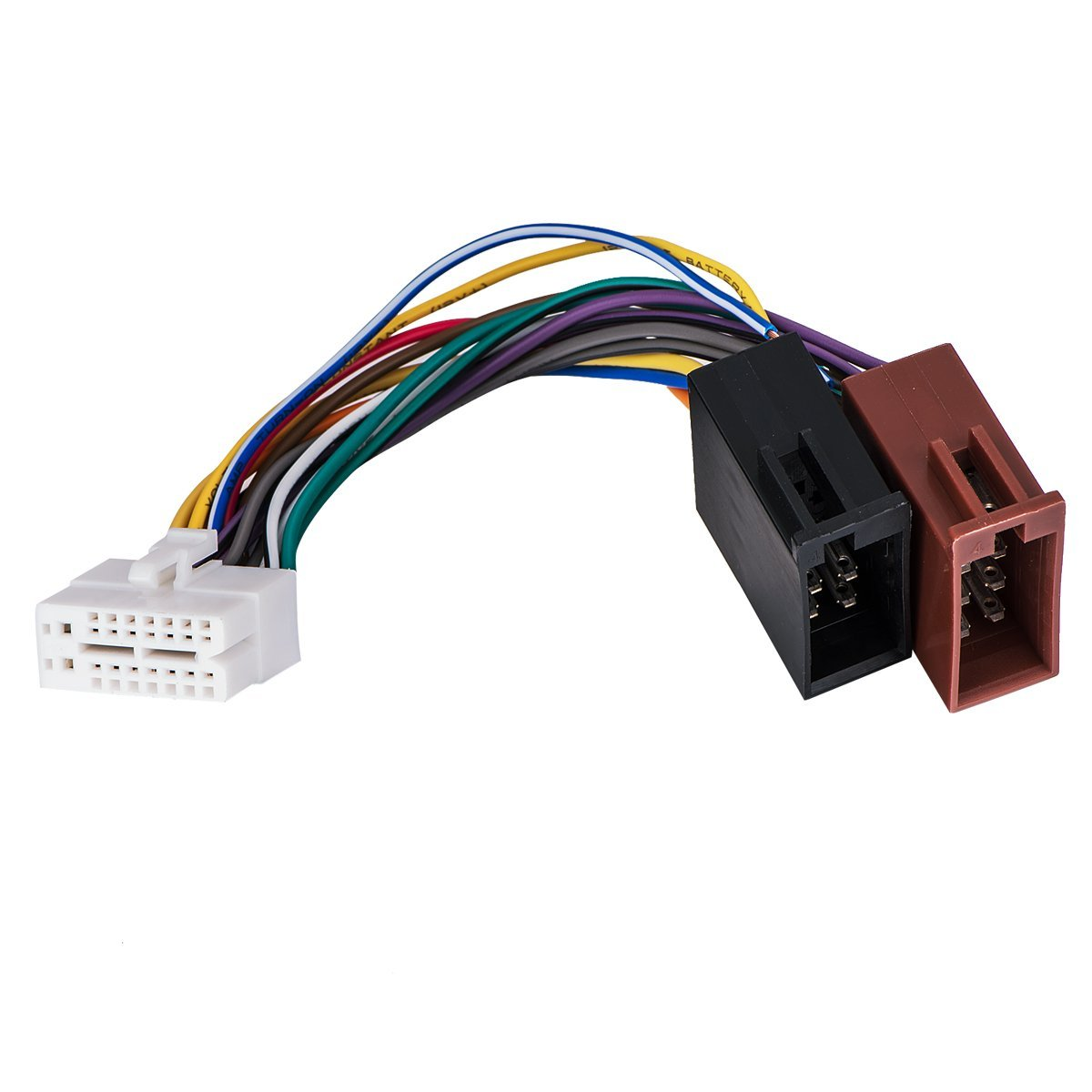 get quotations � clarion 16pin stereo radio iso wiring wire harness  skcl16-21+iso car audio parts