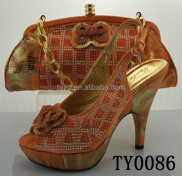 fashion women matching high shoes heels 2015 and orange shoes WUEBgwx