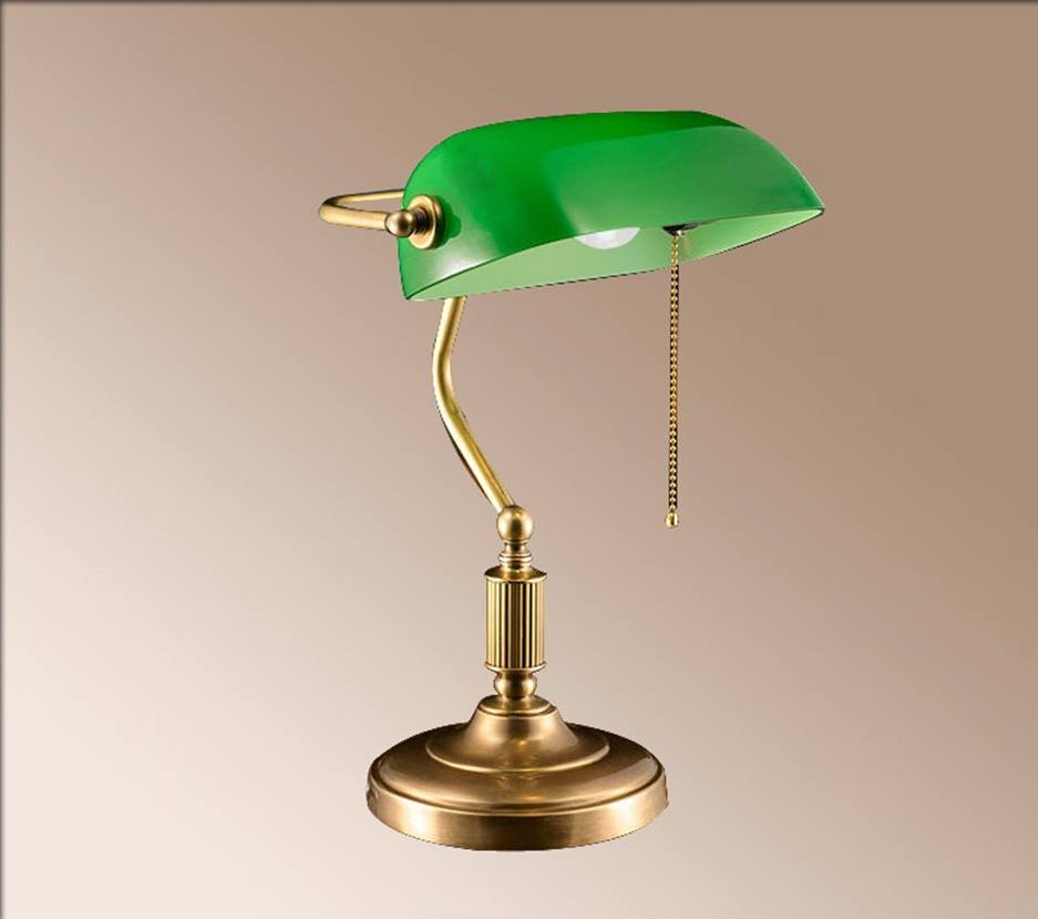 Modern Green Gl Office Working Reading Bankers Desk Lamp Antique Product On