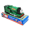 T0222 Electric Thomas and friend Peter sam with one carriage Trackmaster engine Motorized train Chinldren kids