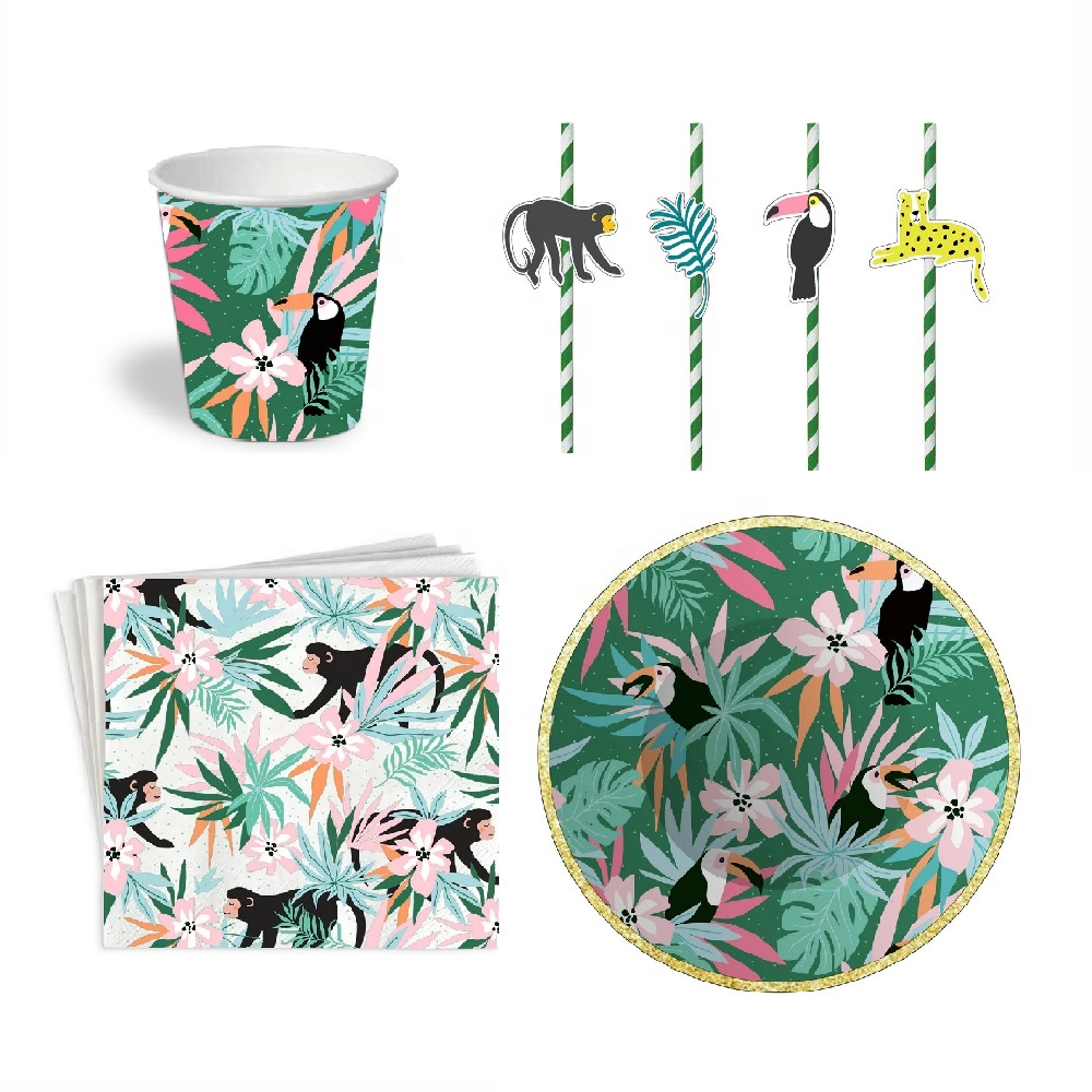Sunbeauty Groothandel Boho Zomer Papier Decoratie Set High Tea Party Ware