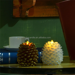 Decorate flameless moving wick led pine cone candles