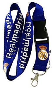 Football Club: Real Madrid Lanyard - Blue Lanyard - DGK neck lanyard - 25mm x 50cm