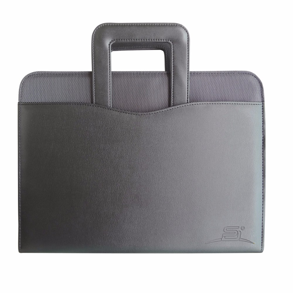 black ladies business resume 3 ring binder folder a4 pu leather portfolio