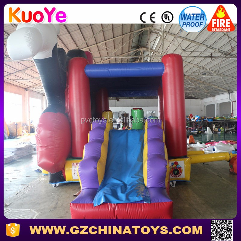 Popular mickey mouse jumping castle inflatable bounce house with slide for sale