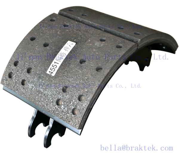 Fmsi 4551 Mounted Brake Linings Chinese Truck Parts
