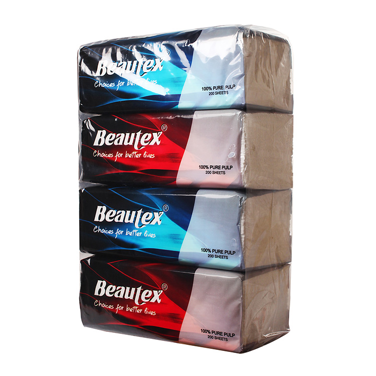 20*20cm Plastic Bag Soft Pack 3 Ply Facial Tissue