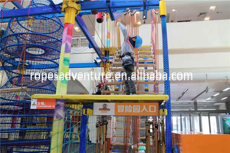 Klettergerüst Mit Seilen : Kinder indoor spielplatz seile natürlich und klettergerüst