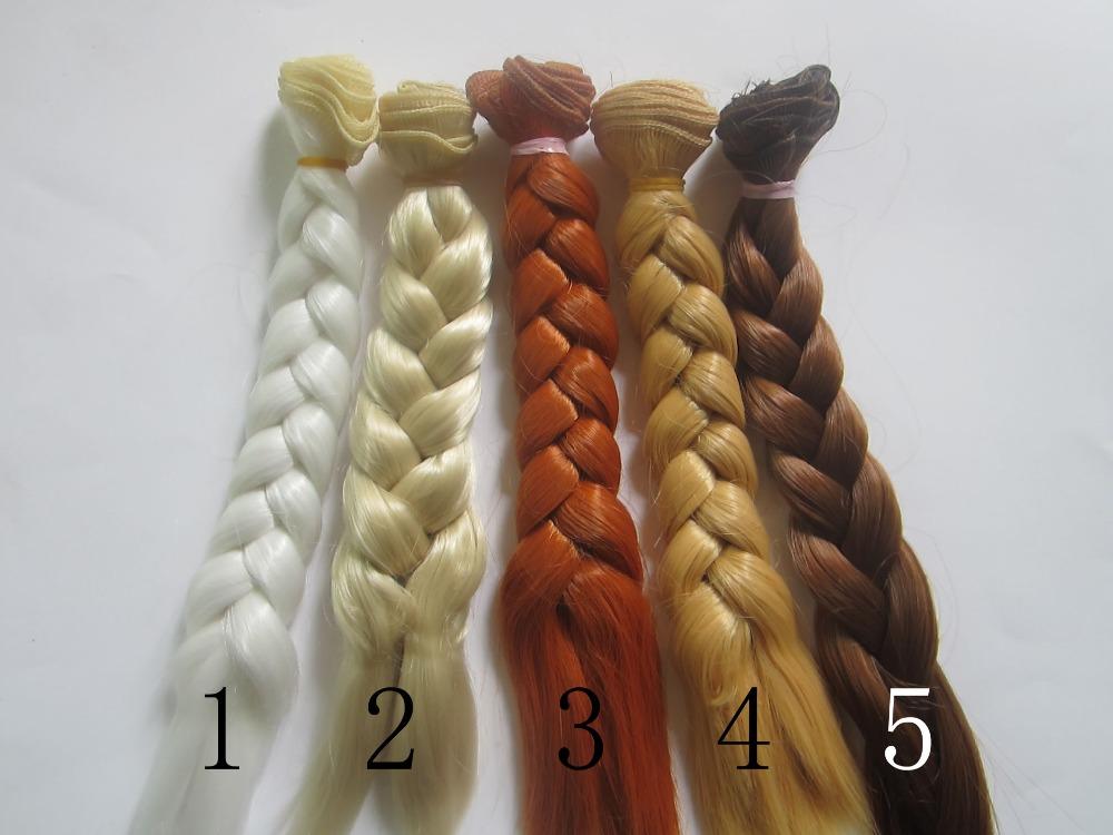 20 100CM Doll Wigs hair BJD SD DIY High temperature Wire Handmade Doll Braids Fapai White