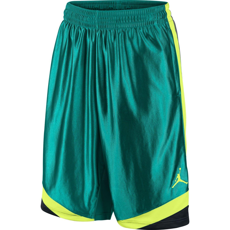 8d821e7b75ca Get Quotations · Jordan Court Vision Men s Basketball Shorts  Green Black Yellow 576638-345