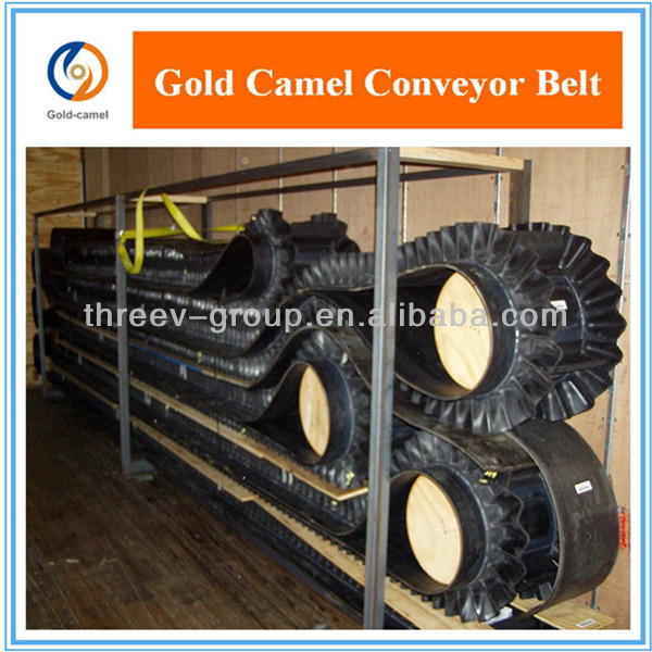 Lifting Sidewall Rubber Conveyor Belt with Cleats