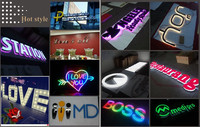 Light Box Shop Name Board Led Acrylic Alphabet Letter Sign With ...