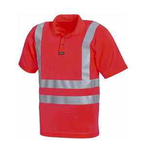 high visibility short sleeve workwear polo shirt model
