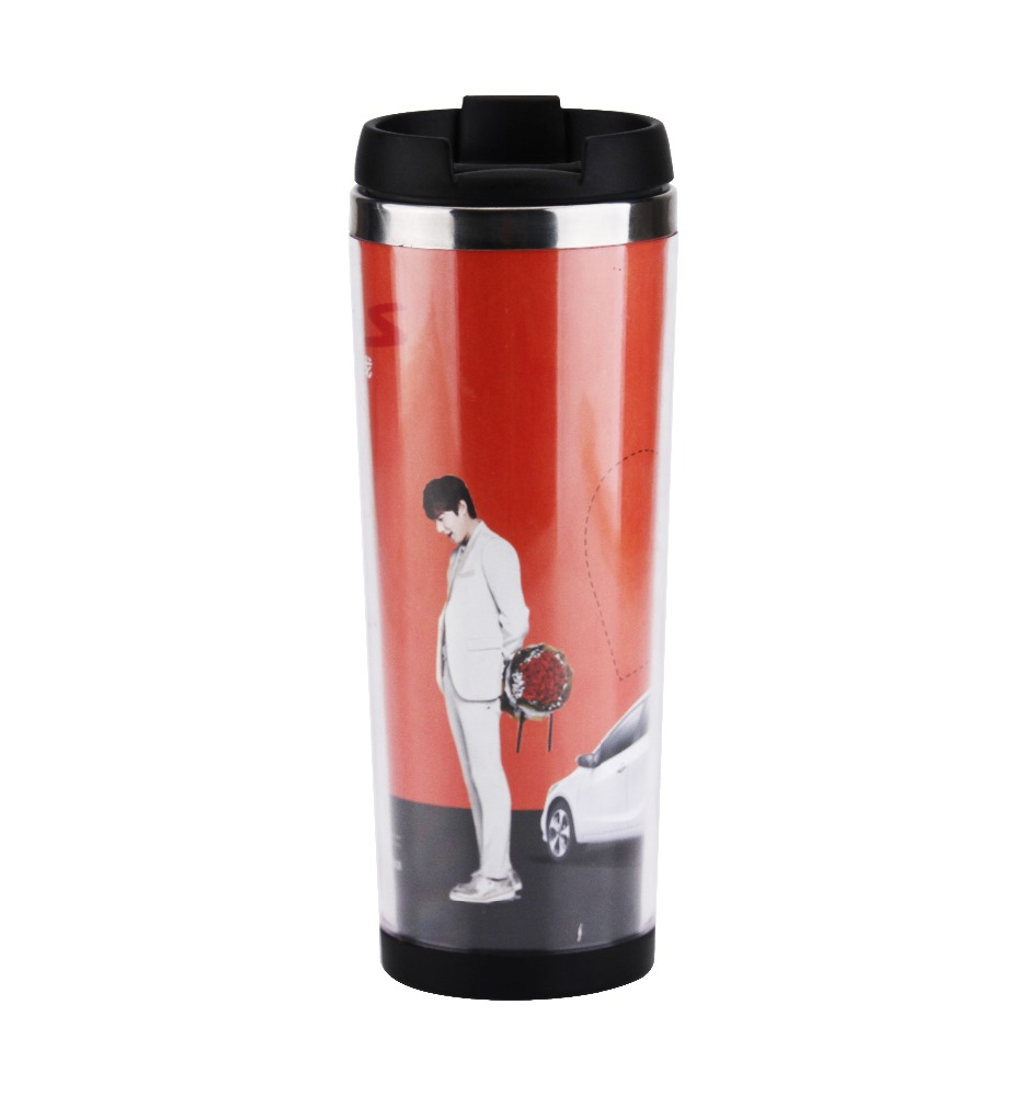 400ml plastic travel photo mug