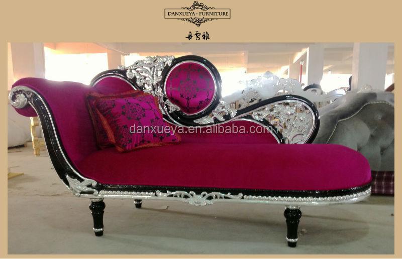 Elegante Princesa Púrpura Chaise Lounge,Neo Clásico Muebles Rococó ...