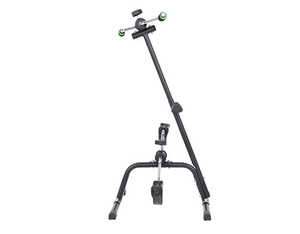 Pedal Exerciser, Adjustable Fit Sit Arm Leg Exercise Peddler Machine Indoor Fitness Bicycle Physical Therapy Machine for Seniors