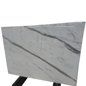 Italian White calacatta marble tile and slab for countertop and wall clading