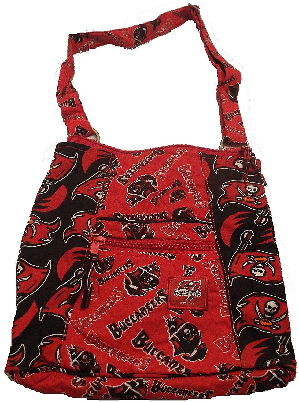 Tampa Bay Buccaneers Team Beans Logo Multiple Zipper Red Women's Purse Bag