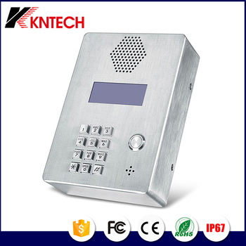 Sip telephone set Elevator Telephone apartment building emergency intercom KNTECH KNZD-03