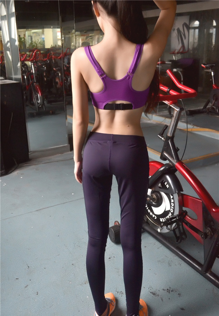 Ladies 88% Dry-Fit Polyester 12% Spandex Sexy Fitness Yoga Pants ...
