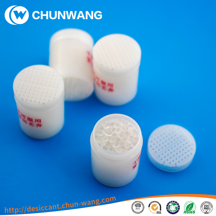 silica gel anti moisture canister for pharmaceutical pills packaging