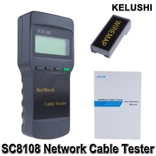 Portable Multifunction Wireless Sc8108 LCD Digital PC Data Network CAT5 RJ45 LAN Phone Meter Length Cable Tester Meter
