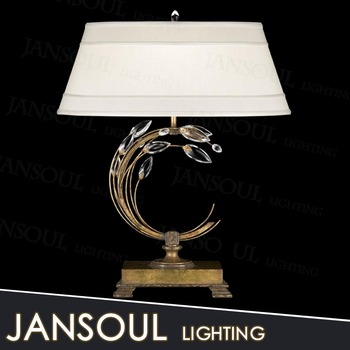 Modern Luxury Brass Table Lamp Elegant Crystal Chandelier Antique ...
