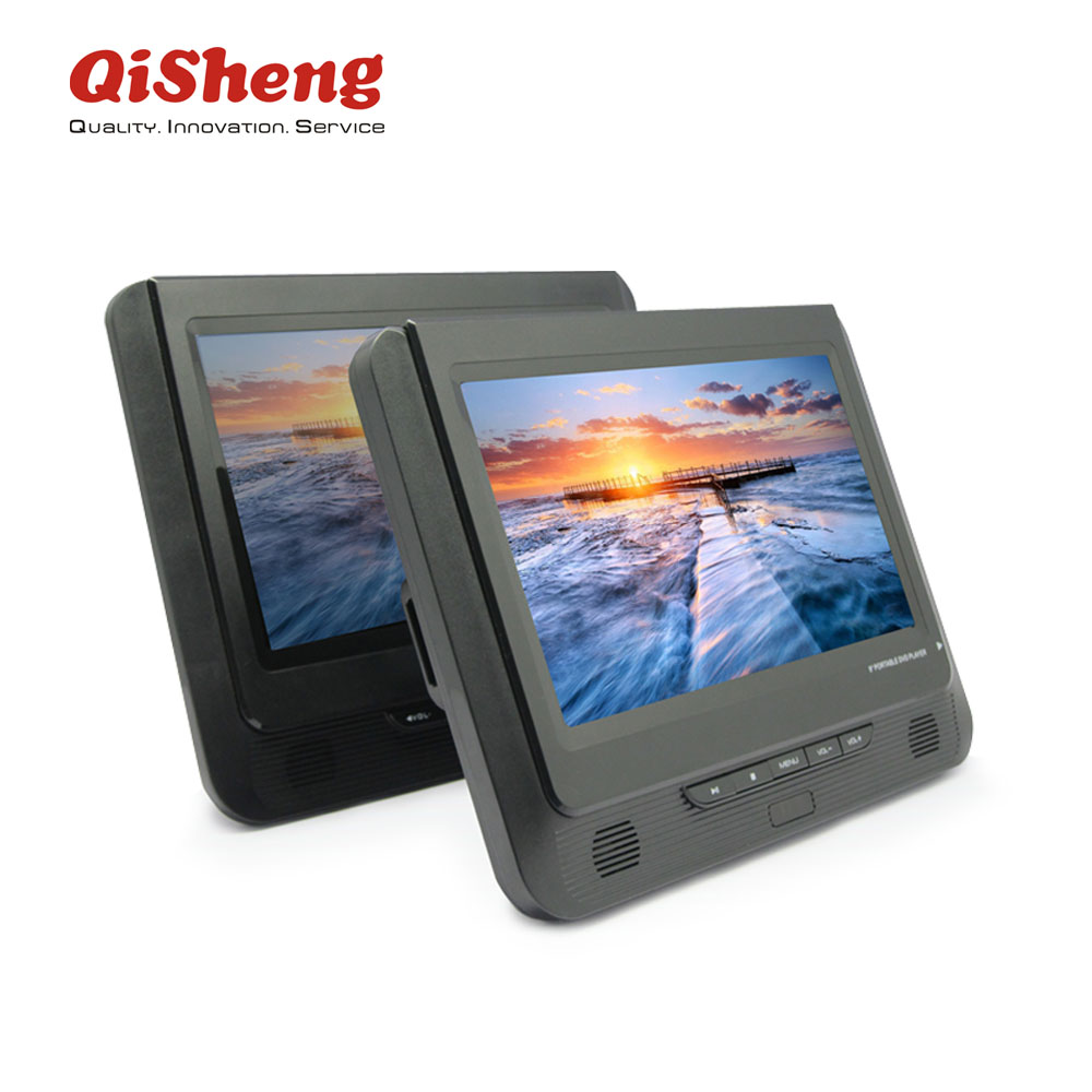 Home Video DVD Player/VCD Player 9 Inch Dual Panel Portable DVD dengan USB