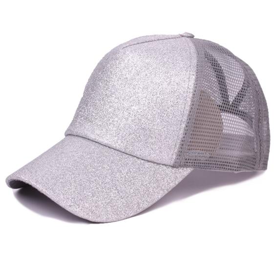 faa583982 Amazon hot sales women ponytail baseball cap fashion glitter ponytail cap