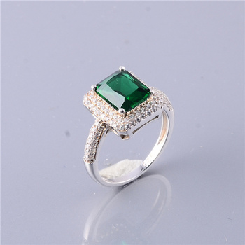57e96241d5669 Natural Square Green Stone 925 Sterling Silver Ring With Factory Price -  Buy 925 Sterling Silver Ring,Single Stone Ring Designs,925 Silver Ring With  ...