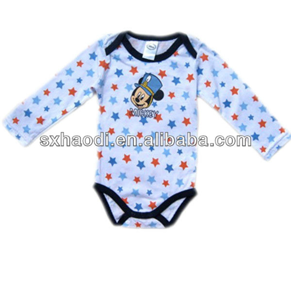 2014 100% organic cotton baby romper,baby clothes,baby wear