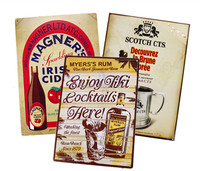 vintage wall arts for club/restaurant,beer metal tin poster,retro beverage tin sign