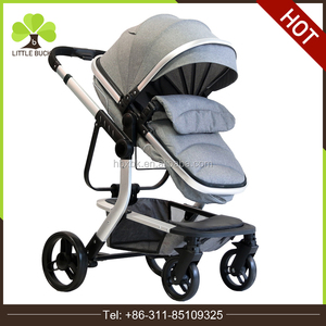 Wholesale stroller high landscape 3 in 1 baby pram/alloy frame folding baby buggy/China oem polyester material baby carriers