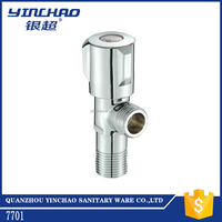 China plated brass angle stop valve for online shopping