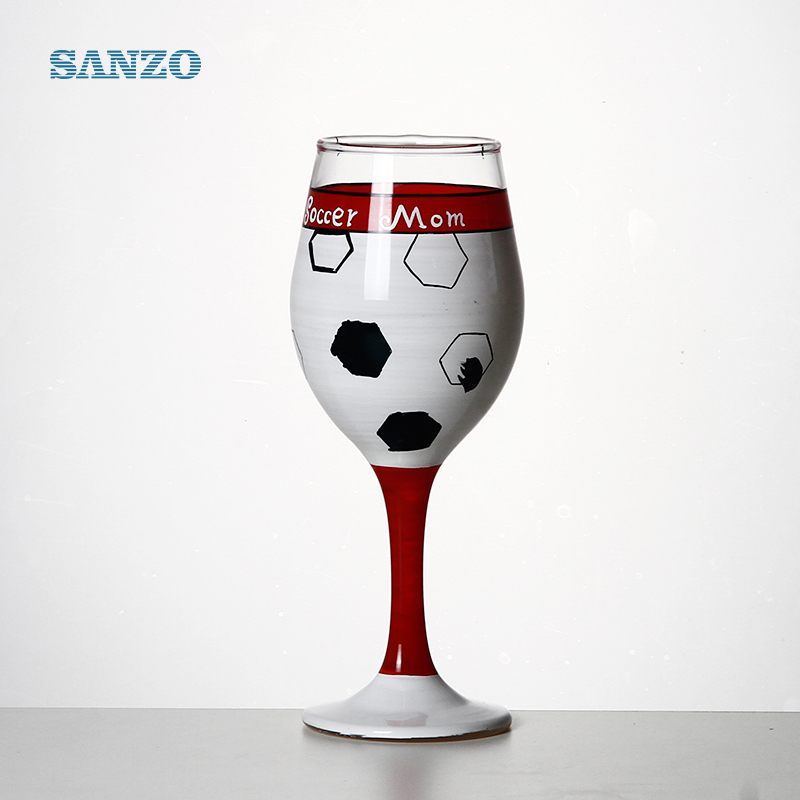 Special design colored ball shaped beaded stem goblet wine glass