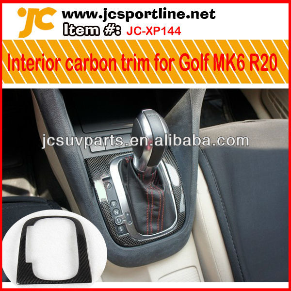 Osir style carbon fiber interior dashboard for VW Golf MK6 R20 gear knob cover auto steering room decoration