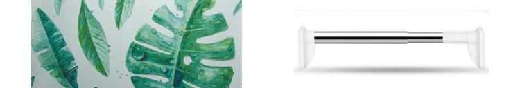 Modello animale 3D Stampa Digitale Poliestere Impermeabile Tenda Della Doccia