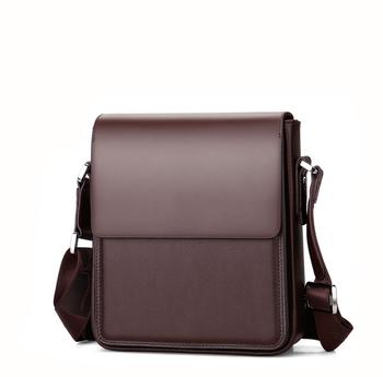 617cb169315 Popular Vertical Design Hard Messenger Bags Cowhide Genuine Leather Men  Shoulder Bags for Office online shopping