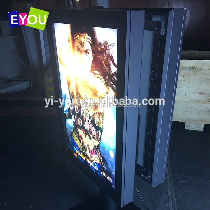 Dynamic illuminated LED backlit light box advertising for electric pole
