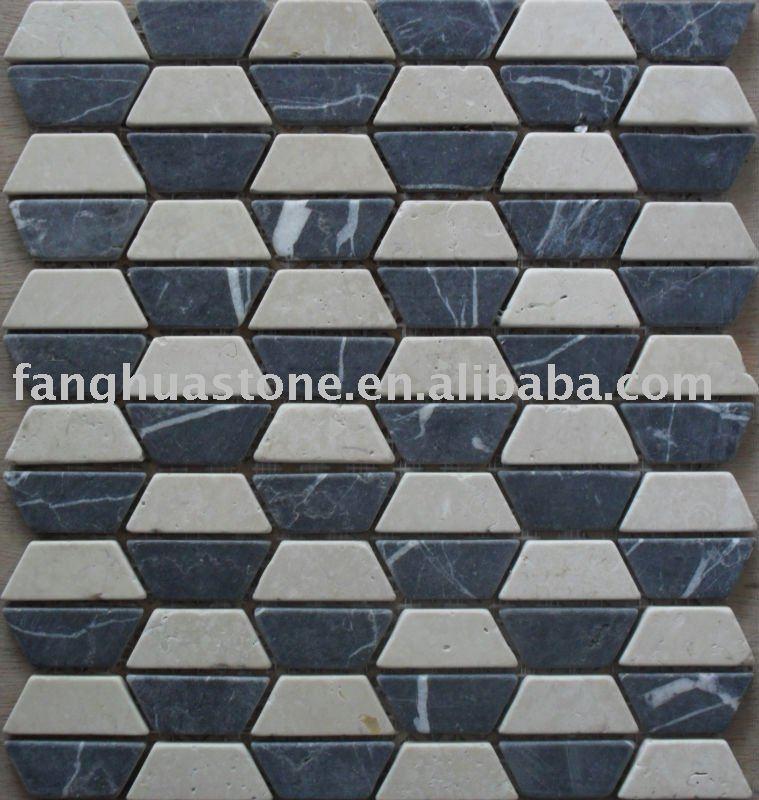 Trapezoid Marble Mosaic Tile
