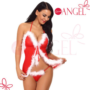 HOTTIE santa costume christmas dress lace babydoll red japanese mature women sexy lingerie