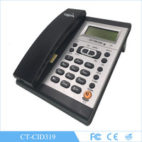 Talking caller id display corded phone with answering machine