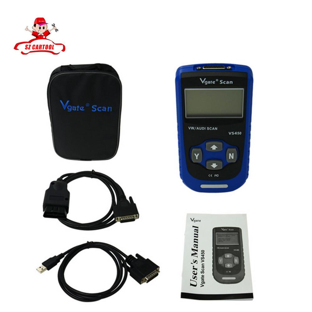 2016 новый VS450 VAG OBD 2 OBDII диагностический инструмент сброс Airbag ABS для Au + ди фольксваген бесплатная доставка